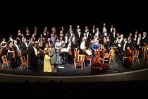 Koncert operetních melodií a evergreenů v parku u divadla.