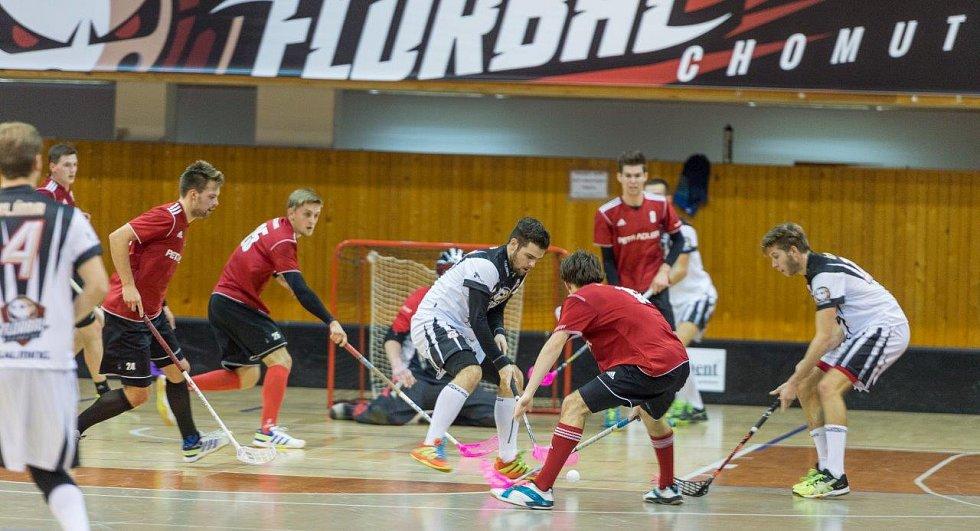 Ze zápasu Florbal Chomutov - FBC Strakonice P.A.
