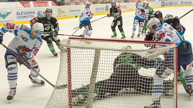 Piráti Chomutov (v bílém) porazili Mladou Boleslav