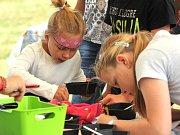 Děti si užily výtvarné dílny.