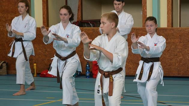 Závodníci z Karate klubu Kadaň a Klášterec na náročném kempu.