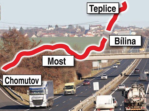 Páteřní silnicí I/13 spojující velká města v Ústeckém kraji budou řidiči zřejmě už brzy svištět rychleji.