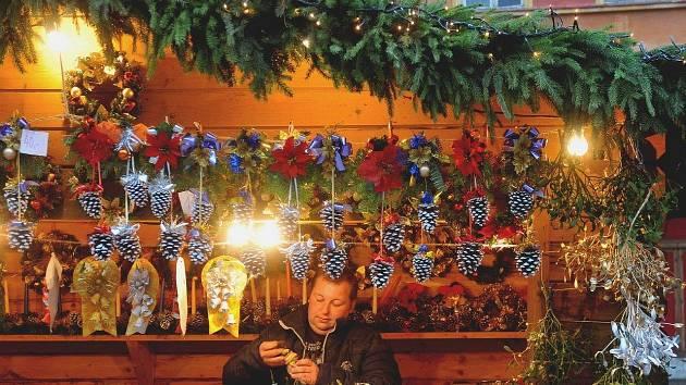 Rozsvícení vánočního stromu v Chomutově, 1. prosince 2013.