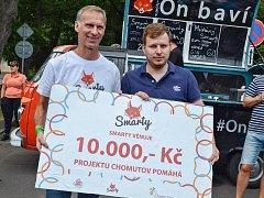 Chomutovský projekt podpořil i Dominik Hašek, který Chomutov navštívil na konci července společně s velkou nafukovací skluzavkou.