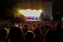 Koncert Michala Davida v chomutovském letním kině