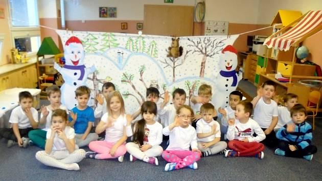 V MŠ Blatenská v Chomutově se uskutečnil Sněhulákový den.
