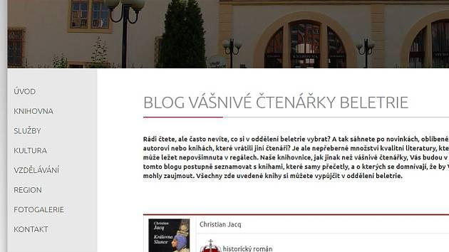 Nový blog chomutovských knihovnic