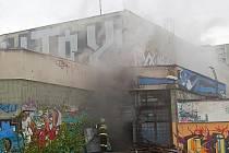 Požár bývalého kina Evropa