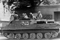 Snímek ze srpna 1968 na Chomutovsku