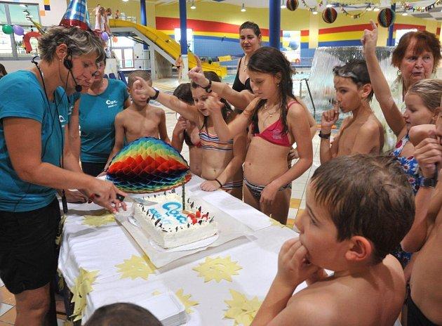 První narozeniny chomutovského Aquasvěta.