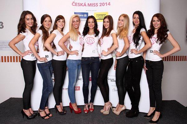 Finalistky České Miss 2014.