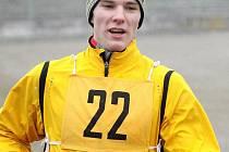 Jakub Coufal zvítězil a vede průběžně kategorii mladých mužů.