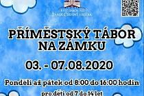 První příměstský tábor na zámku Červený Hrádek.