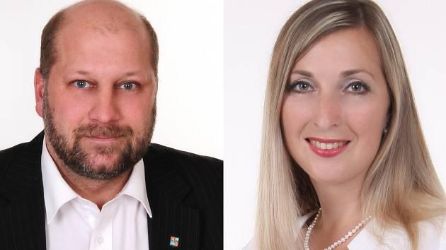 Jaroslav Komínek (KSČM) a Darina Kováčová (ANO).