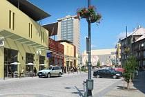 Nová podoba Žižkova náměstí. Pohled na bývalé autobusové nádraží směrem k Armabetonu a Prioru.