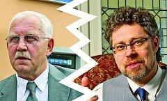 Koalice v Klášterci (vlevo starosta Jan Houška, vpravo Václav Homolka) se rozpadá.