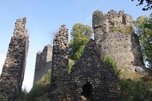Zřícenina hradu Egerberg.