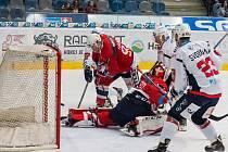 Piráti (v bílém) po Spartě doma porazili také Pardubice.