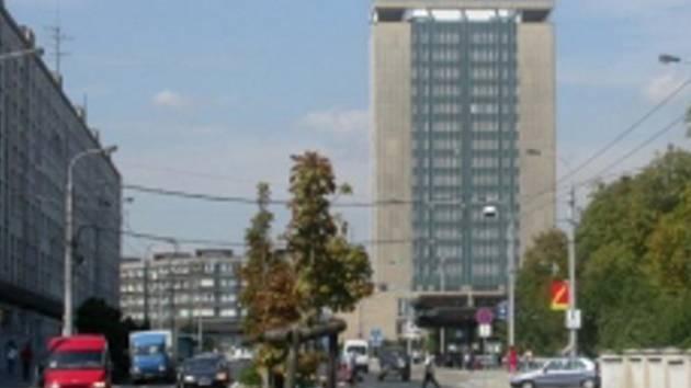 Armabeton v centru Chomutova.