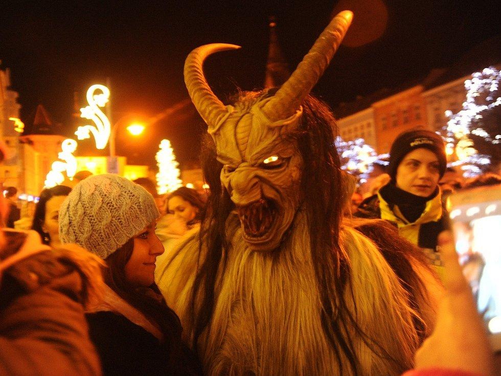 Krampus čerti v Chomutově.