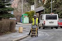 Oprava frekventované ulice Tomáše ze Štítného v Chomutově
