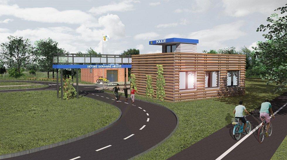 Takto má vypadat nové dopravní hřiště v Chomutově.