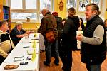 První den prezidentských voleb v Údlicích na Chomutovsku.