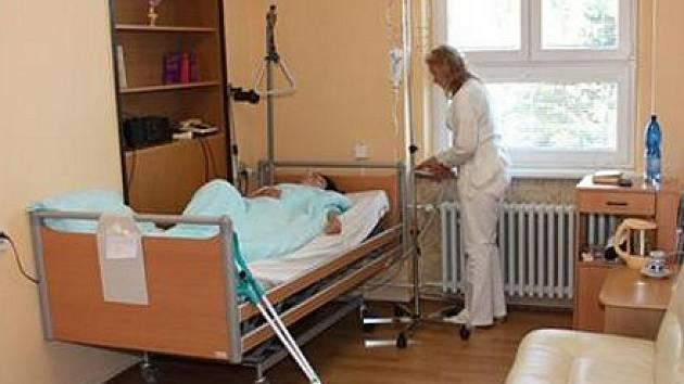 Plicní oddělení v Chomutově.