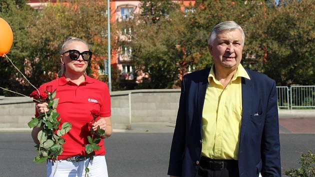 Mítink ČSSD na Ústecku. Lídr kandidátky Jaroslav Krákora