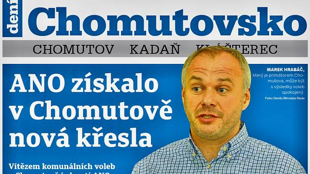 Týdeník Chomutovsko z 10. října 2018