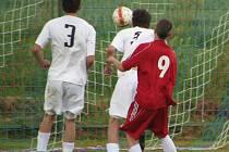 Takhle dal Jan Vrba Duchcovu první gól, celkem nastřílel čtyři!