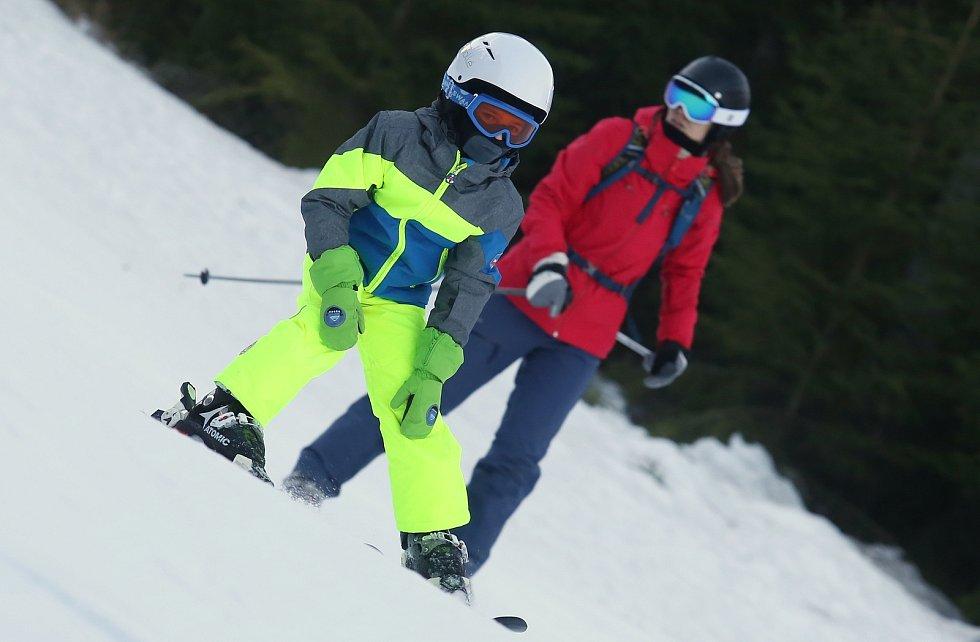 Skiareál Klínovec.