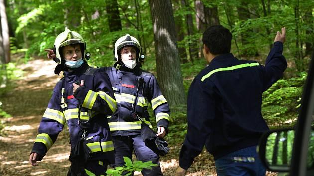 Jirkovští hasiči řeší požáry v lesích.