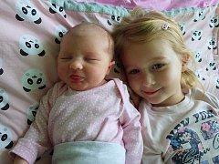 Klaudie Kunstová se narodila 13. února 2018 ve 20.37 hodin rodičům Haně Vaňkové a Tomáši Kunstovi z Klášterce nad Ohří. Vážila 3,62 kg a měřila 51 cm. Na snímku je sestra Natálie Kunstová.