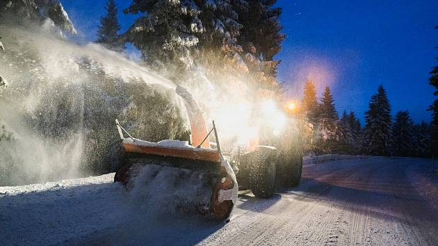 Únorová sněhová nadílka v oblasti Kovářské a Klínovce