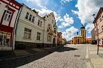 Pohled na centrum Jirkova.