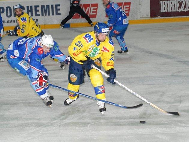 Zápas Slovan Ústečtí Lvi - KLH Chomutov