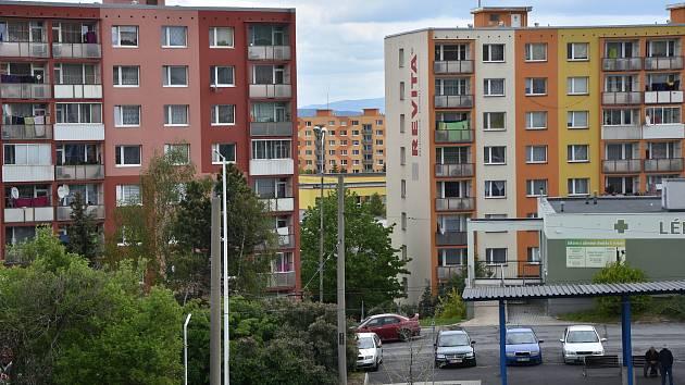 Sídliště Písečná v Chomutově.