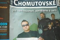 Jedno ze starších čísel radničních novin v Chomutově.