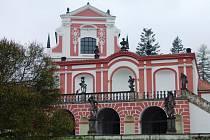 Historická salla terena u zámku v Klášterci nad Ohří.