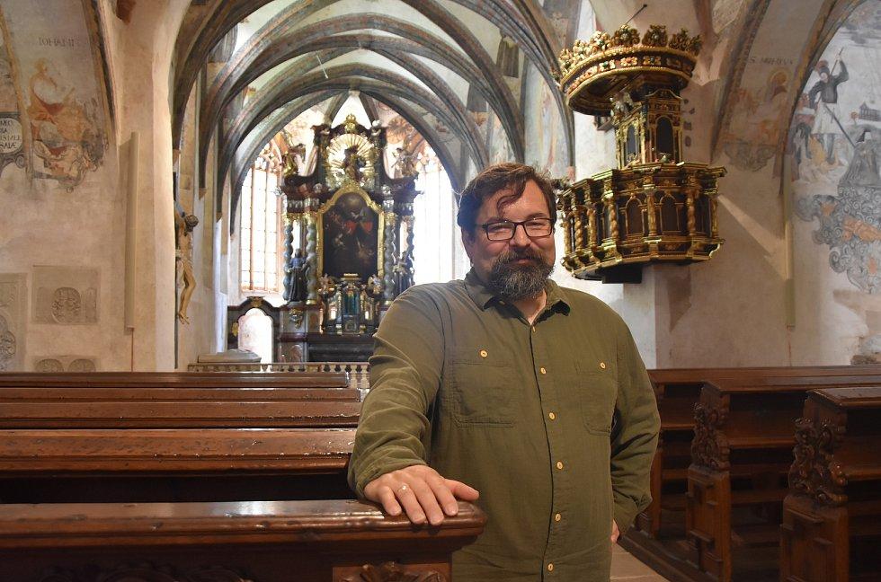 Správce františkánského kláštera s kostelem Petr Liebscher.