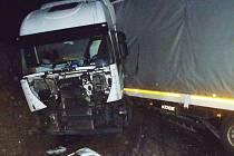 Nehoda kamionu u Chomutova