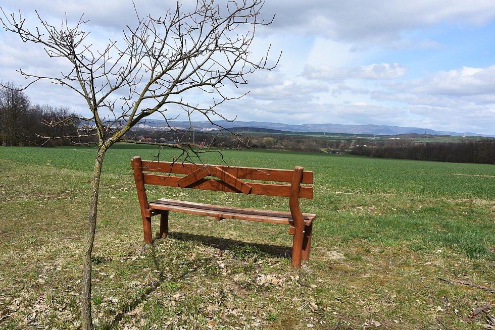 Výhled z Hořeneckého lesíku.