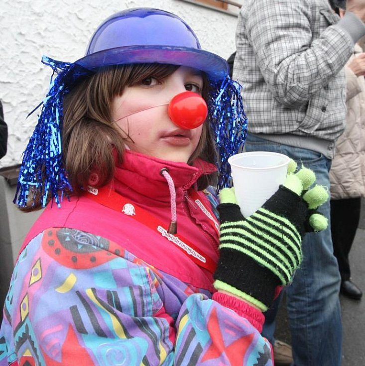 Dívka klaun.
