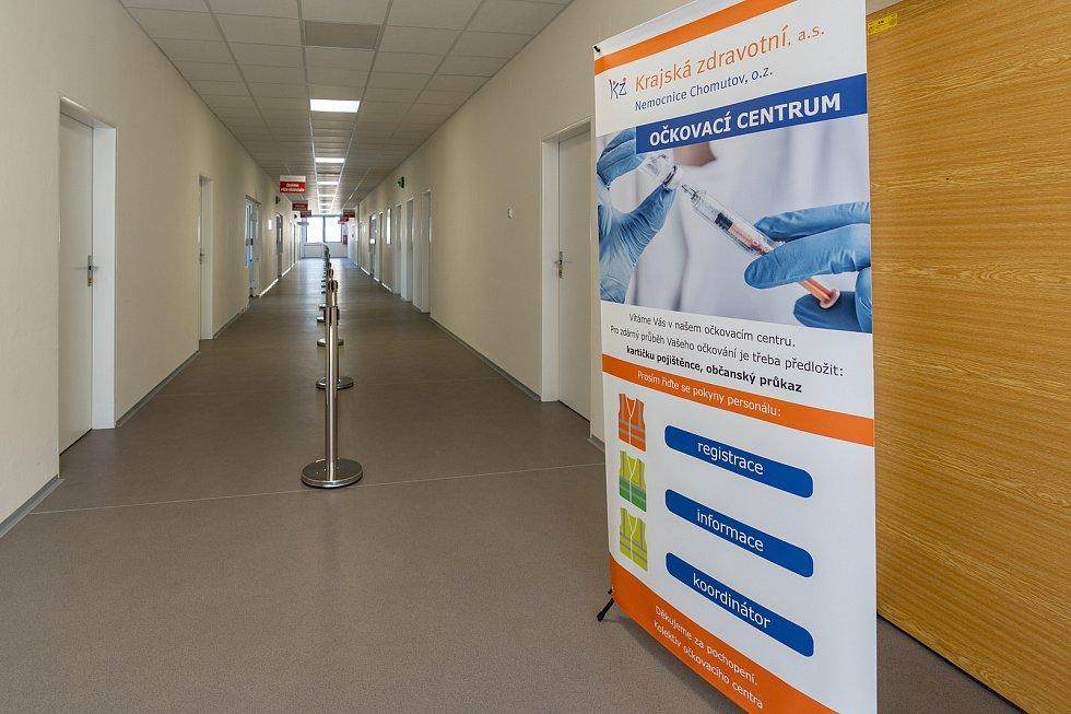 Velkokapacitní očkovací centrum v Chomutově.