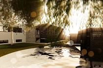 Vizualizace sauna parku v Jirkově.