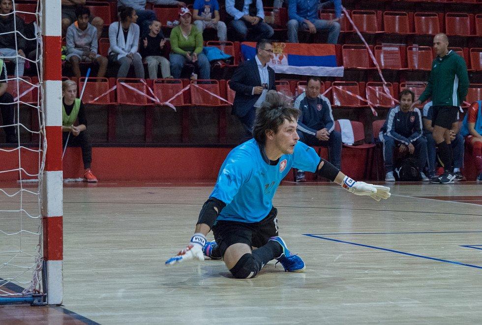 V chomutovské městské sportovní hale se dnes odehrál futsalový zápas Česko - Srbsko s výsledkem 3:4. Odveta se hraje za 14 dní v Srbsku.