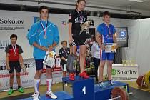 Na MČR  byl nejlepší z chomutovských vzpěračů David Horník, který skončil druhý (na snímku vlevo).
