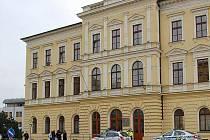 Budova chomutovského soudu.