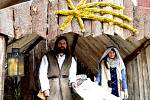 Živý betlém na náměstí v Chomutově
